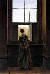 Painting by Caspar David Friedrich: Woman at a Window
