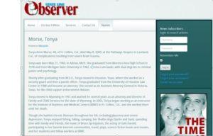 My Sister Tonya's Obituary from The Stateline Observer  http://statelineobserver.com/stories/obituaries/2898-morse-tonya