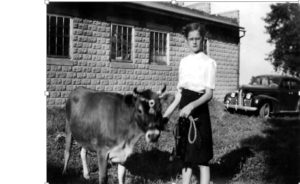 My Mother with Her 4-H Calf (1943?)