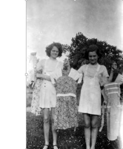 Mom (left) and her sister Charlene (early 1940s?)