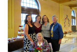 Mom at Tina's wedding, 2010